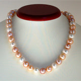 "Classic 10 mm 18"" Pearl Necklace (3 Colors to choose)"