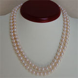 7 mm Double Strand Pearl Necklace (3 Colors to choose)