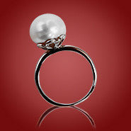 11 mm Freshwater Pearl Ring on Sterling Silver