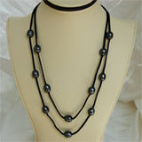 Double Strand Suede Station Necklace (2 Colors to choose)