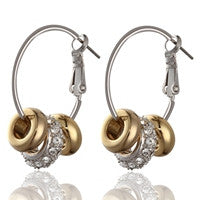 Swarovski Gold n Crystal Earrings (E0678)