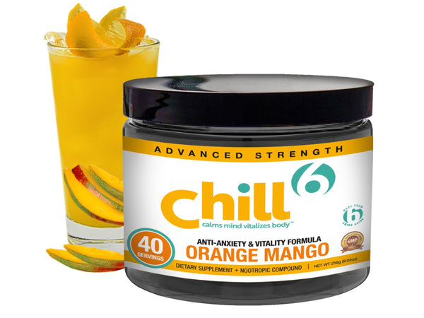 Anxiety Relief Drink Gift Card • Chill6™ Orange Mango (40 Serving Jar)