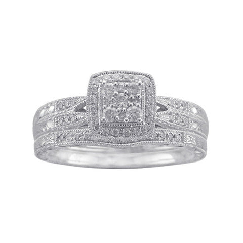 1/3 CT. TW. DIAMOND WEDDING 2 PC SET IN 10K WHITE GOLD - Isabella Prada & Co., Inc. - 1