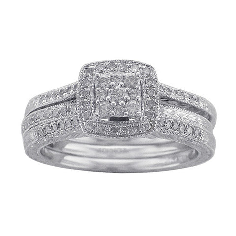 1/2 CT. TW. DIAMOND WEDDING 2 PC SET IN 10K WHITE GOLD - Isabella Prada & Co., Inc. - 1