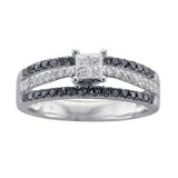 7/8 CT. TW. BLACK AND WHITE DIAMOND WEDDING SET IN 14K WHITE GOLD - Isabella Prada & Co., Inc. - 2