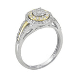 1/2 CT. TW. DIAMOND ENGAGEMENT RING IN 10K YELLOW AND WHITE GOLD - Isabella Prada & Co., Inc. - 2