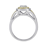 1/2 CT. TW. DIAMOND ENGAGEMENT RING IN 10K YELLOW AND WHITE GOLD - Isabella Prada & Co., Inc. - 3