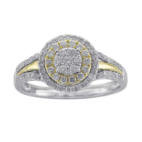 1/2 CT. TW. DIAMOND ENGAGEMENT RING IN 10K YELLOW AND WHITE GOLD - Isabella Prada & Co., Inc. - 1