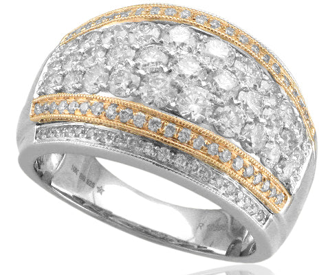 RG4137 - 10KT 2-TONE 2.0CTW DIAMOND FASHION RING
