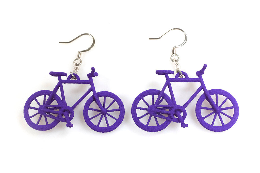 Bicycle Earrings - Free For Mind