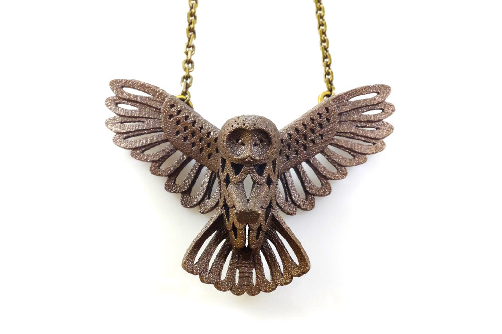 Owl Necklace - Steel (Large) - Free For Mind