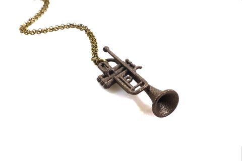 Trumpet Necklace - Steel - Free For Mind