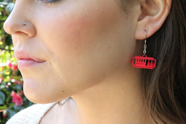 Cable Car Earrings - Free For Mind - 4