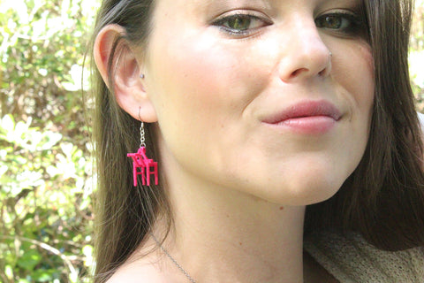 Shipping Crane Earrings - Free For Mind - 1