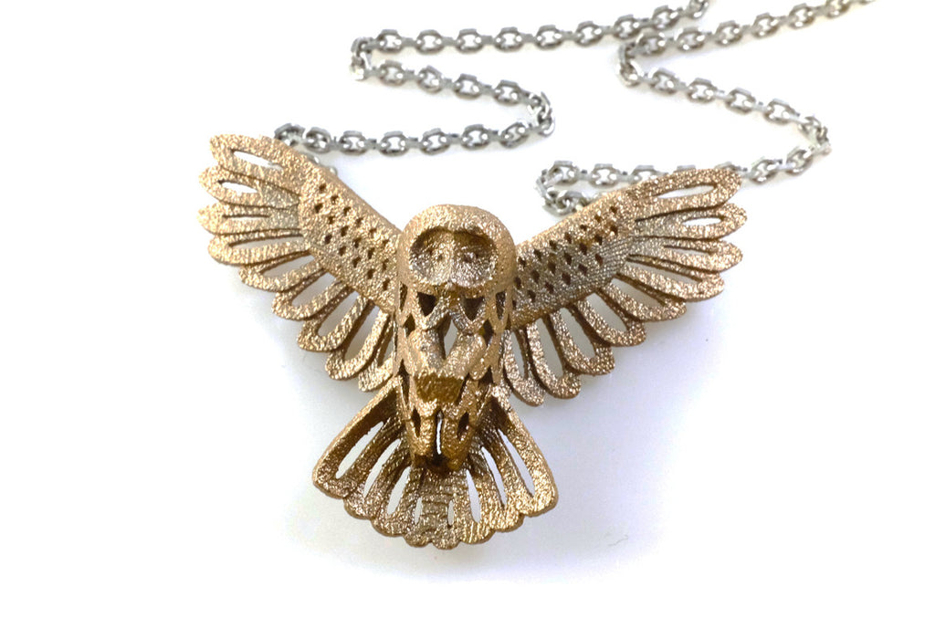 Owl Necklace - Steel (Small) - Free For Mind
