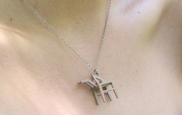 Shipping Crane Necklace - Steel - Free For Mind - 2
