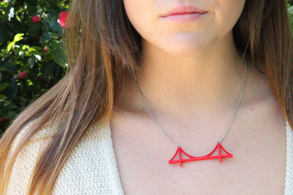 Golden Gate Bridge Necklace - Free For Mind - 2