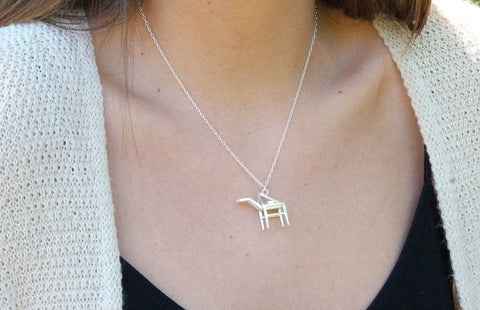 Shipping Crane Necklace - Sterling Silver - Free For Mind - 1