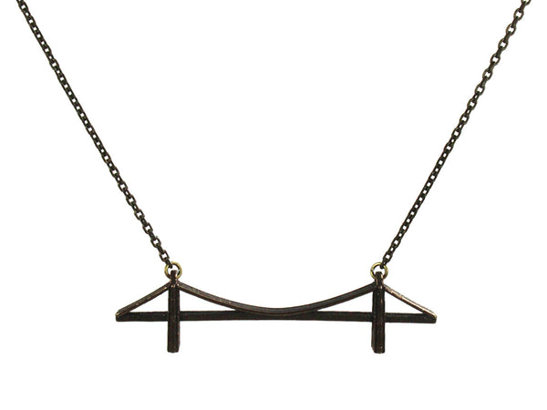 Brooklyn Bridge Necklace - Steel - Free For Mind - 3
