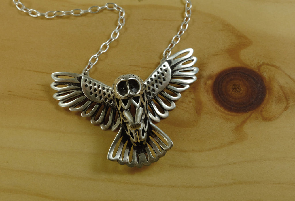 Owl Necklace - Sterling Silver - Free For Mind