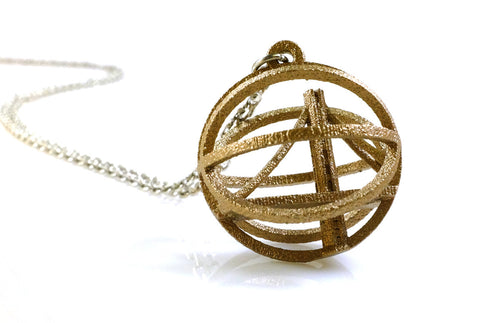 Warriors Inspired Basketball Necklace - Steel - Free For Mind