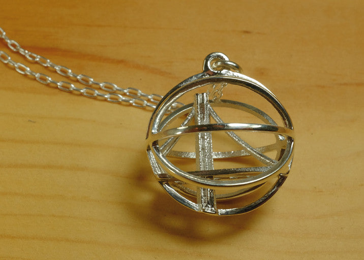 Warriors Inspired Basketball Necklace - Sterling Silver - Free For Mind