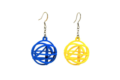 Warriors Inspired Basketball Earrings - Free For Mind