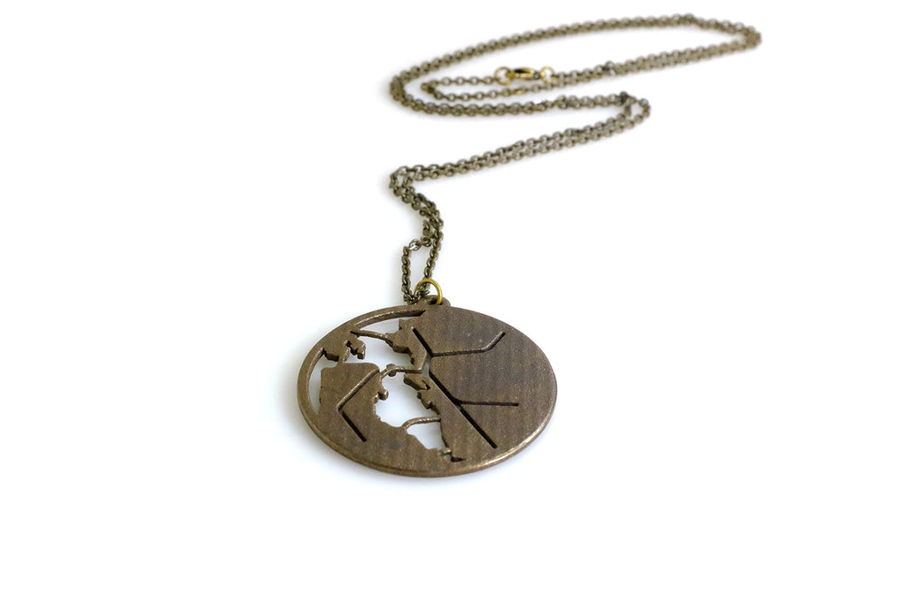BART Map Necklace - Steel - Free For Mind - 1