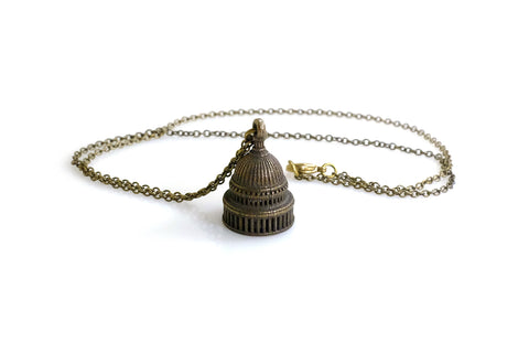 Capitol Building Necklace - Steel - Free For Mind