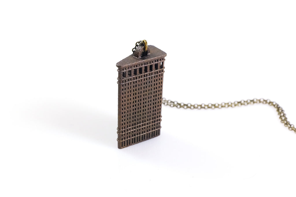 Flatiron Building Necklace - Steel - Free For Mind
