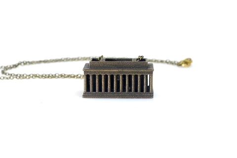 Lincoln Memorial Necklace - Steel - Free For Mind