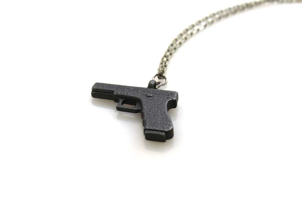 Glock Necklace - Steel - Free For Mind