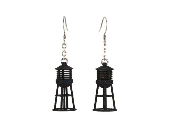 Water Tower Earrings - Free For Mind - 3