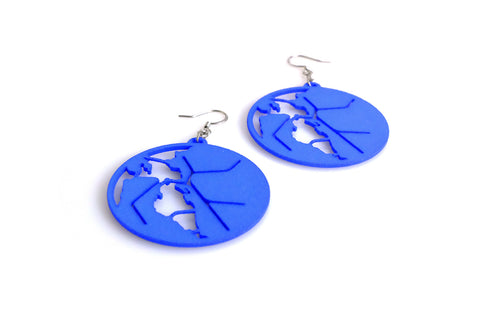 BART Map Earrings - Free For Mind