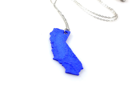 California Topography Necklace- Nylon - Free For Mind