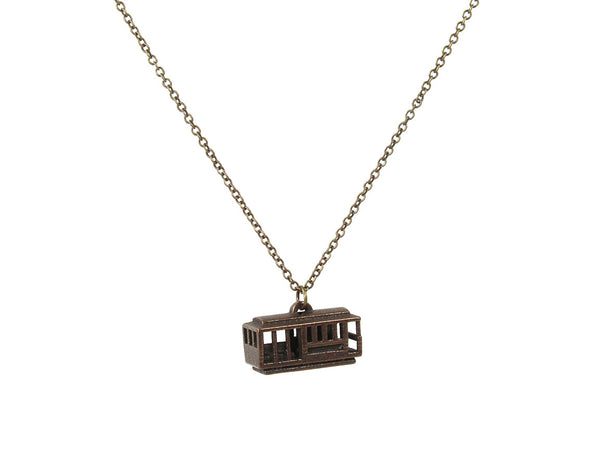 Cable Car Necklace-Steel - Free For Mind - 2