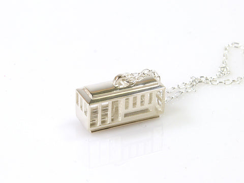 Cable Car Necklace-Sterling Silver - Free For Mind