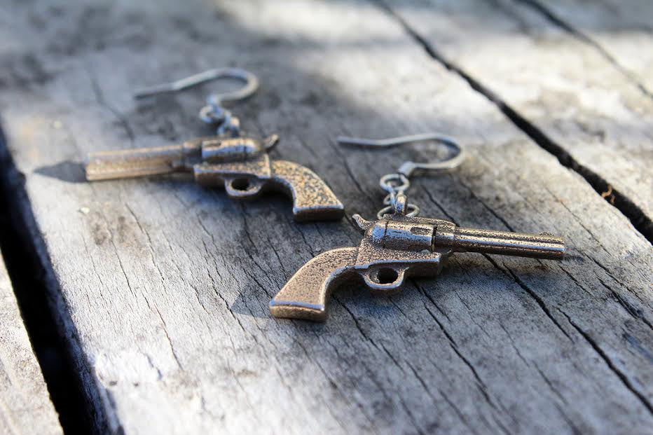Colt 45 Earrings - Steel - Free For Mind