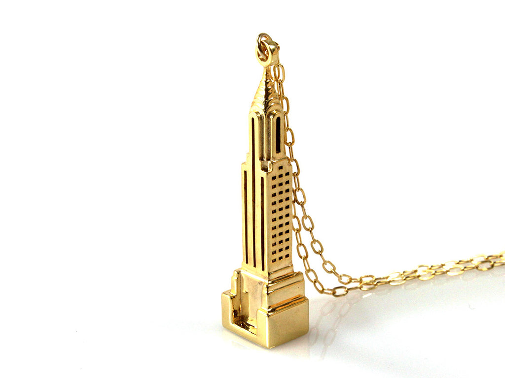 Chrysler Necklace - Gold Plated Brass - Free For Mind