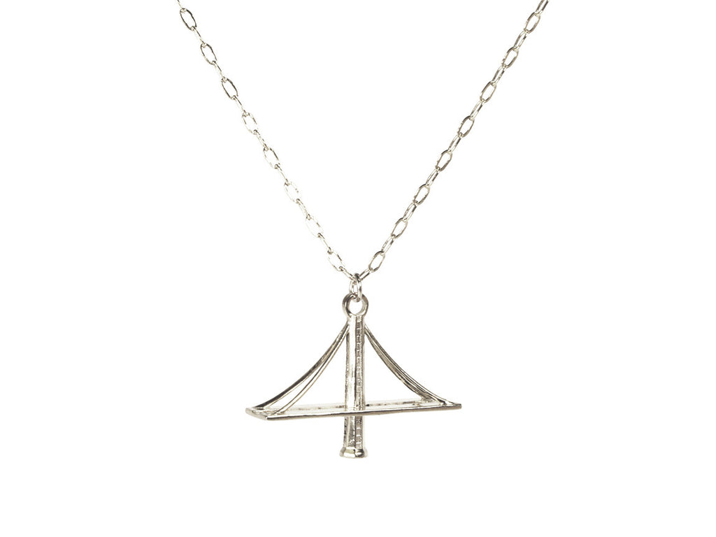 New Bay Bridge Necklace Sterling Silver - Free For Mind
