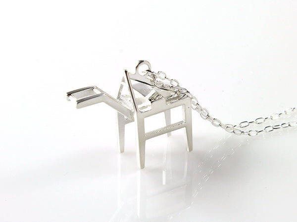 Shipping Crane Necklace - Sterling Silver - Free For Mind - 2