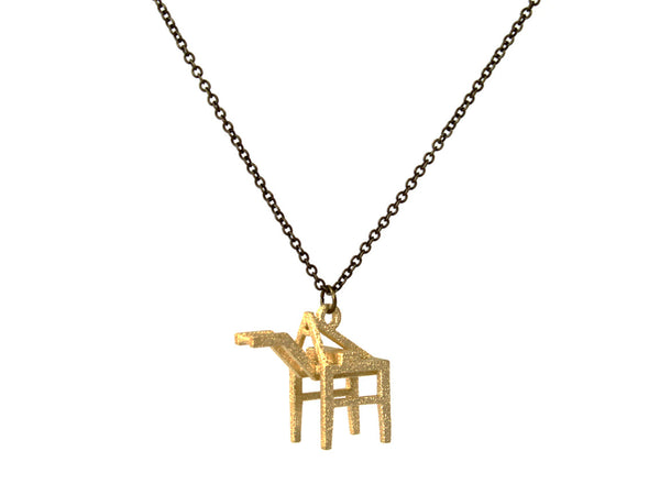 Shipping Crane Necklace - Steel - Free For Mind - 5