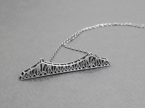 Old Bay Bridge Necklace - Sterling Silver - Free For Mind