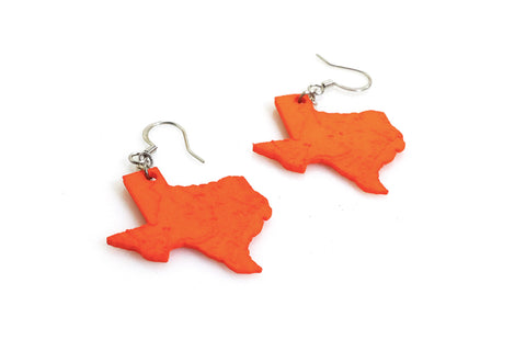 Texas Topography Earrings - Free For Mind