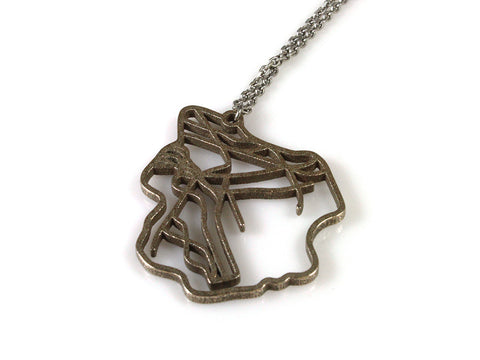 Brooklyn Subway Map Necklace - Steel - Free For Mind