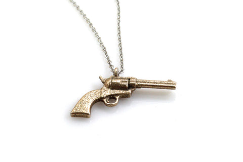 Colt 45 Necklace - Steel - Free For Mind