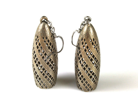 Gherkin Earrings - Steel - Free For Mind