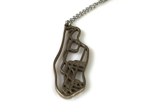 Manhattan Subway Map Necklace - Steel - Free For Mind