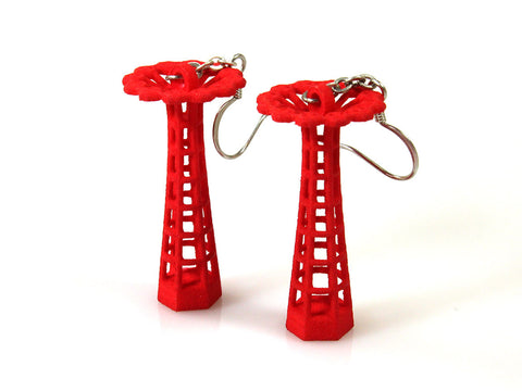 Parachute Jump Earrings - Free For Mind - 1