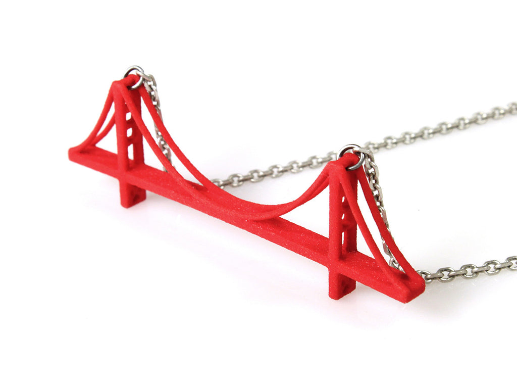 Golden Gate Bridge Necklace - Free For Mind - 1